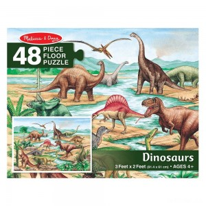 Melissa And Doug Dinosaurs Jumbo Floor Puzzle 48pc - Sale