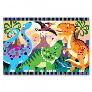 Melissa & Doug Dinosaur Dawn Jumbo Jigsaw Floor Puzzle (24pc, 2 x 3 feet) - Sale