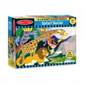 Melissa And Doug Safari Social Jumbo Floor Puzzle 24pc - Sale
