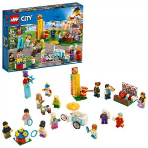 LEGO City People Pack - Fun Fair 60234 Toy Fair Building Set with Ice Cream Cart 183pc - Sale