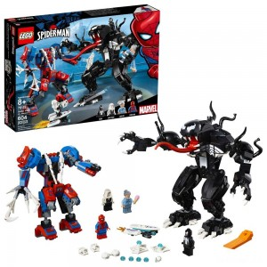 LEGO Marvel Spider Mech Vs. Venom Ghost Spider Superhero Playset with Web Shooter 76115 - Sale