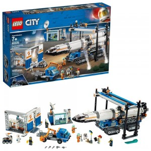 LEGO City Space Rocket Assembly & Transport 60229 Model Rocket Building Set with Toy Crane 1055pc - Sale