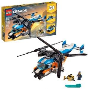 LEGO Creator Twin-Rotor Helicopter 31096 Toy Helicopter Building Set with Submarine 569pc - Sale