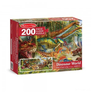 Melissa And Doug Dinosaur World Jumbo Floor Puzzle 200pc - Sale