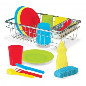 Melissa & Doug Let's Play House Wash and Dry Dish Set (24pc) - Sale