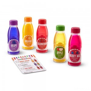 Melissa & Doug Tip & Sip Toy Juice Bottles and Activity Card (6pc) - Sale