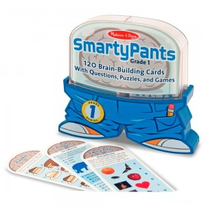 Melissa & Doug Smarty Pants 1st Grade Card Set - 120 Educational, Brain-Building Questions, Puzzles, and Games, Kids Unisex - Sale
