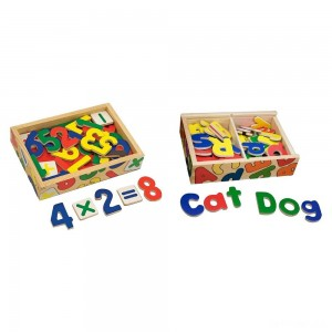 Melissa & Doug Deluxe Magnetic Letters and Numbers Set With 89 Wooden Magnets - Sale