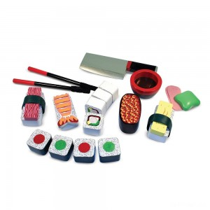 Melissa & Doug Sushi Slicing Wooden Play Food Set - Sale