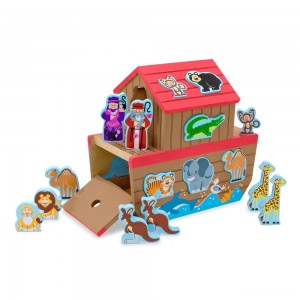 Melissa & Doug Noah's Ark Wooden Shape Sorter Educational Toy (28pc) - Sale
