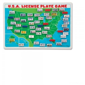 Melissa & Doug Flip to Win Travel License Plate Game, Kids Unisex - Sale
