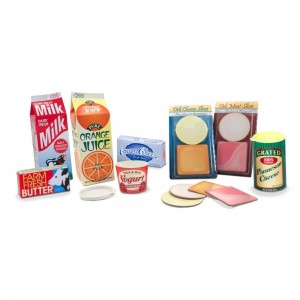Melissa & Doug Fridge Groceries Play Food Cartons (8pc) - Toy Kitchen Accessories - Sale
