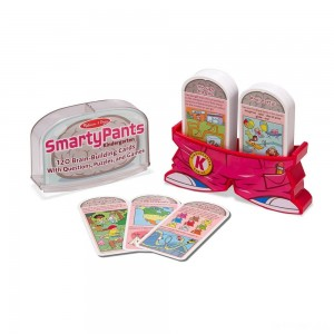 Melissa & Doug Smarty Pants Kindergarten Card Set - 120 Educational, Brain-Building Questions, Puzzles, and Games, Kids Unisex - Sale