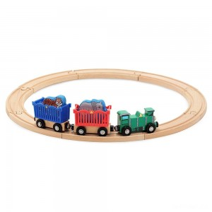 Melissa & Doug Zoo Animal Wooden Train Set (12+pc) - Sale
