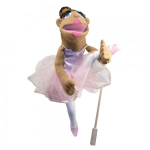 Melissa & Doug Ballerina Puppet - Full-Body With Detachable Wooden Rod for Animated Gestures - Sale