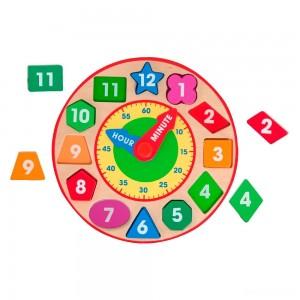 Melissa & Doug Shape Sorting Clock - Wooden Educational Toy - Sale