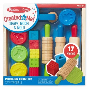 Melissa & Doug Shape, Model, and Mold Clay Activity Set - 4 Tubs of Modeling Dough and Tools - Sale