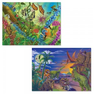 Melissa And Doug Bugs And Dinosaurs Puzzles 120pc - Sale