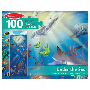 Melissa And Doug Under The Sea Jumbo Floor Puzzle 100pc - Sale