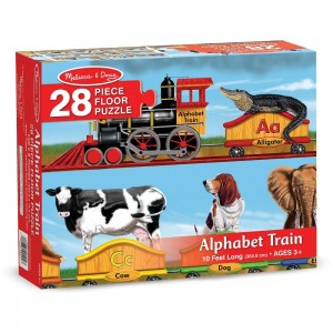 Melissa And Doug Alphabet Train Letters And Animals Jumbo Floor Puzzle 28pc - Sale