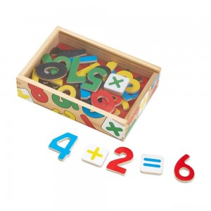 Melissa & Doug 37 Wooden Number Magnets in a Box - Sale
