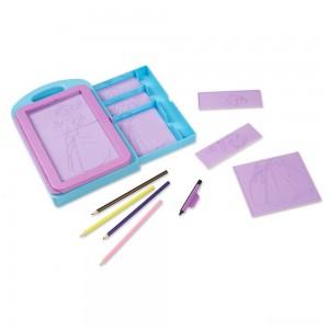Melissa & Doug Princess Design Activity Kit - 9 Double-Sided Plates, 4 Colored Pencils, Rubbing Crayon - Sale
