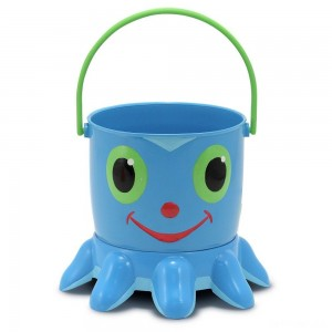 Melissa & Doug Sunny Patch Flex Octopus Sand Pail and Sifter - Sale