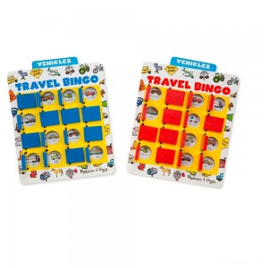 Melissa & Doug Flip to Win Travel Bingo Game - 2 Wooden Game Boards, 4 Double-Sided Cards, Kids Unisex - Sale