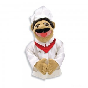 Melissa & Doug Chef Puppet With Detachable Wooden Rod - Sale
