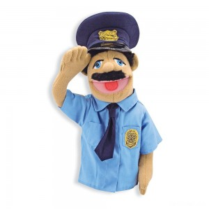 Melissa & Doug Police Officer Puppet With Detachable Wooden Rod - Sale