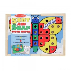 Melissa & Doug Sort and Snap Color Match - Sorting and Patterns Educational Toy - Sale