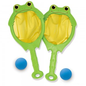 Melissa & Doug Sunny Patch Froggy Toss and Catch Net Game With 2 Balls - Sale