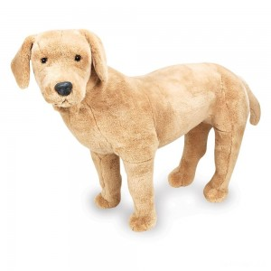 Melissa & Doug Giant Yellow Labrador - Lifelike Stuffed Animal Dog (nearly 2 feet tall) - Sale