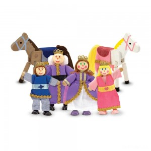 Melissa & Doug Royal Family Wooden Doll Set - 6pc - Sale
