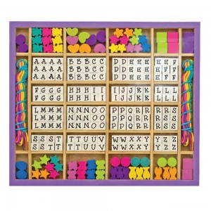 Melissa & Doug Deluxe Wooden Stringing Beads With 200+ Beads and 8 Laces for Jewelry-Making - Sale