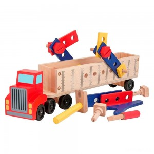Melissa & Doug Big Rig Truck Wooden Building Set (22pc) - Sale